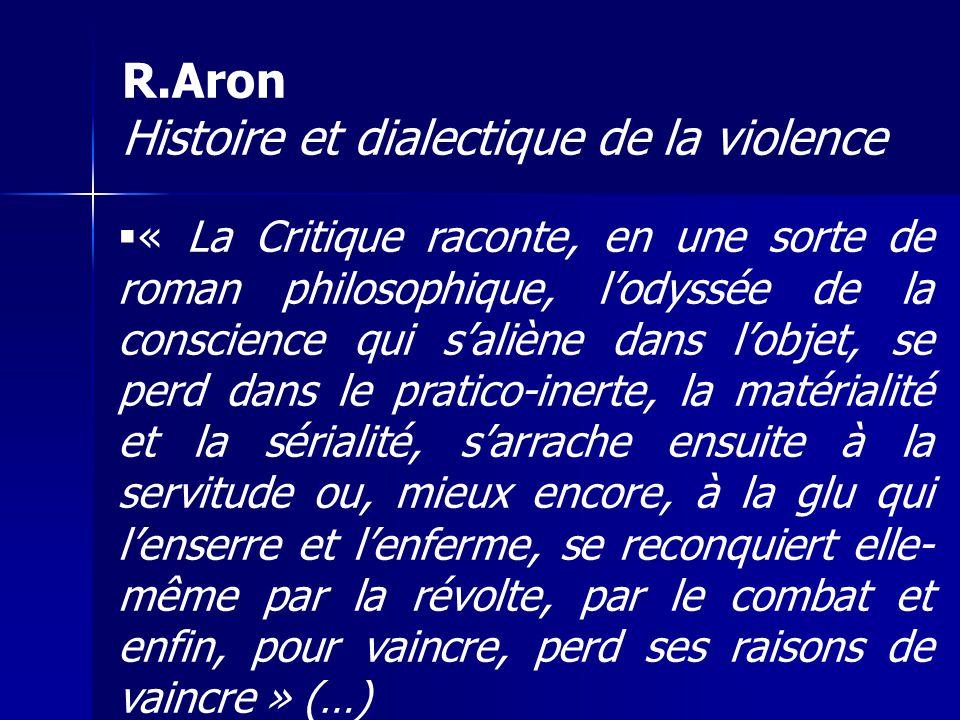 R.Aron Histoire et dialectique de la violence