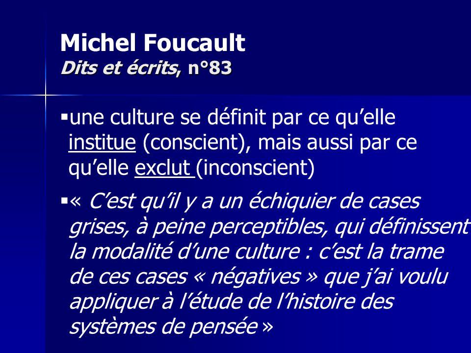 Michel Foucault Dits et écrits, n°83