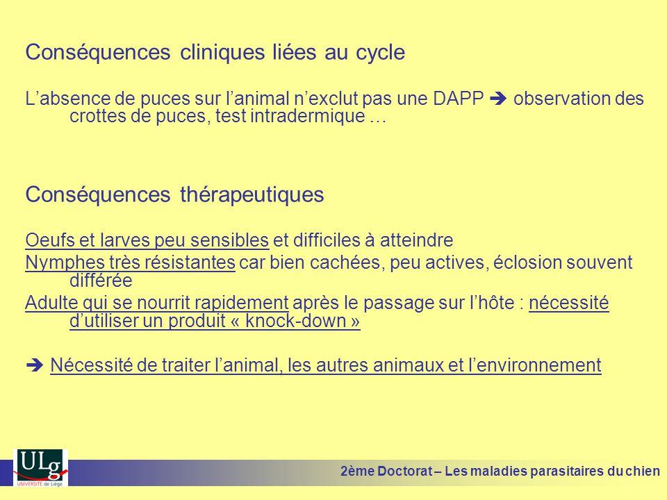 Conséquences cliniques liées au cycle