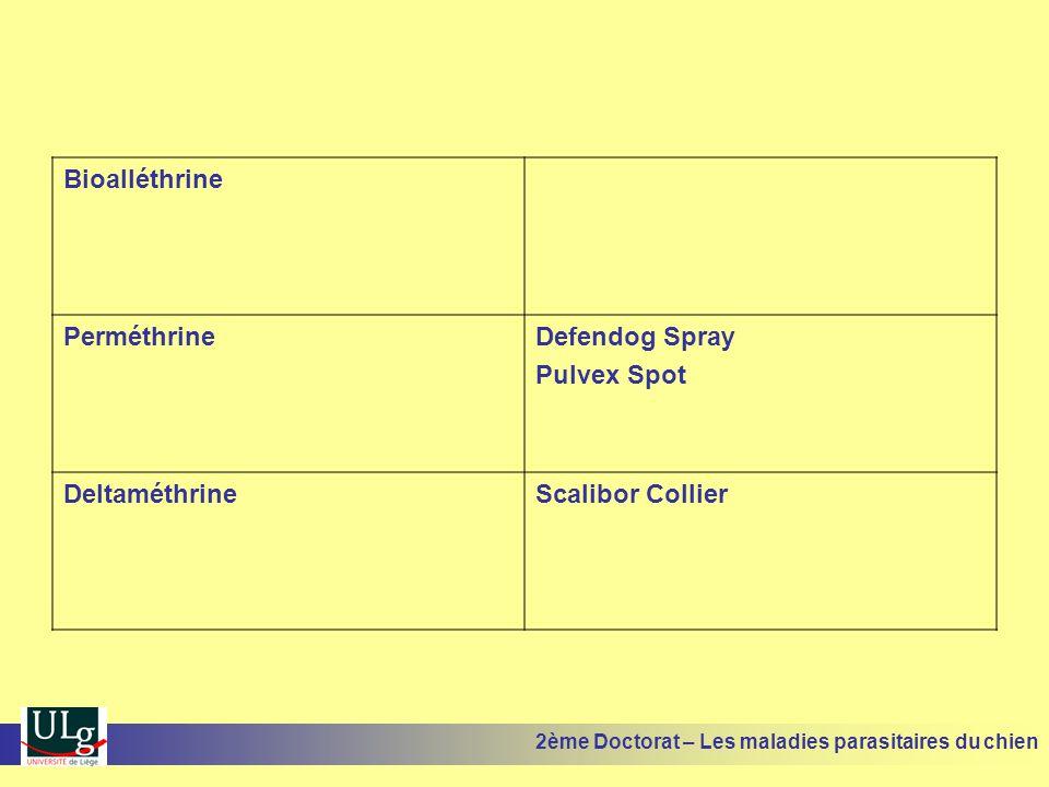 Bioalléthrine Perméthrine Defendog Spray Pulvex Spot Deltaméthrine