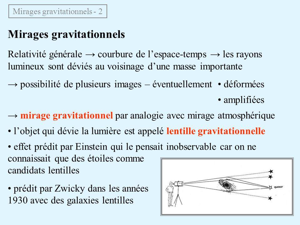 Mirages gravitationnels - 2