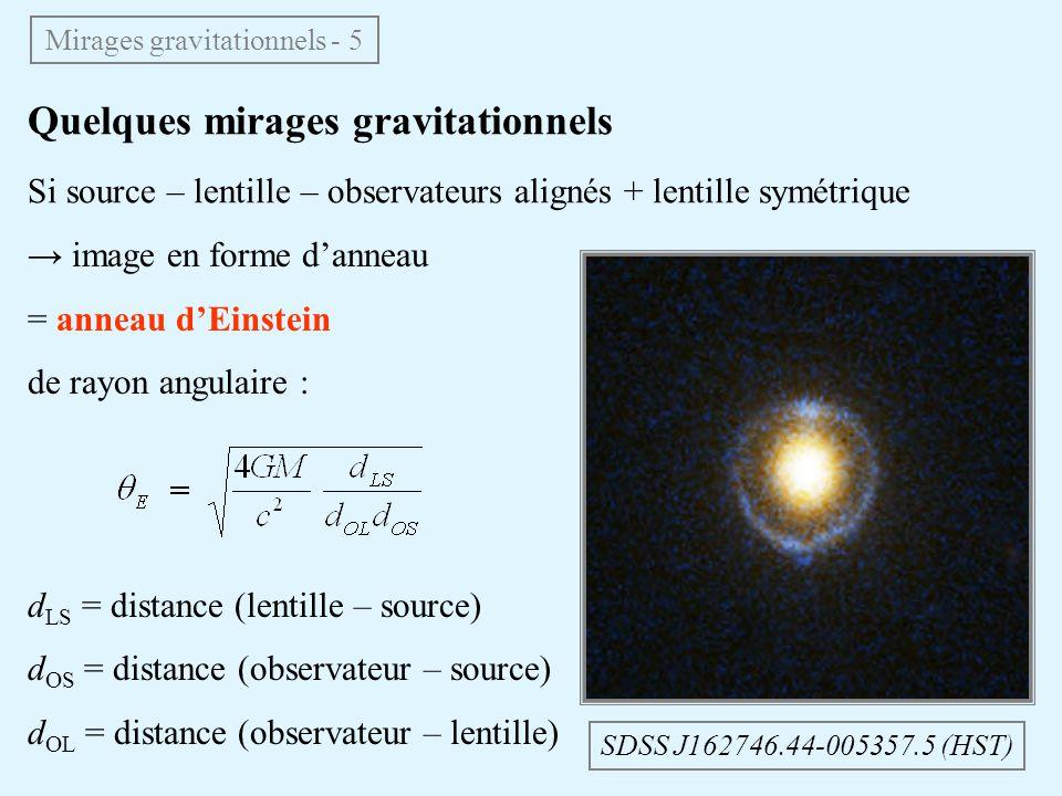 Mirages gravitationnels - 5