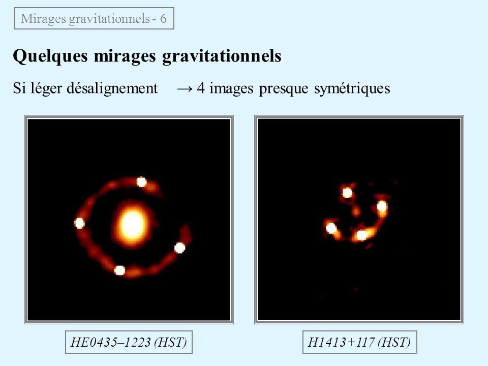 Mirages gravitationnels - 6