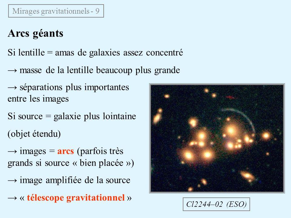 Mirages gravitationnels - 9