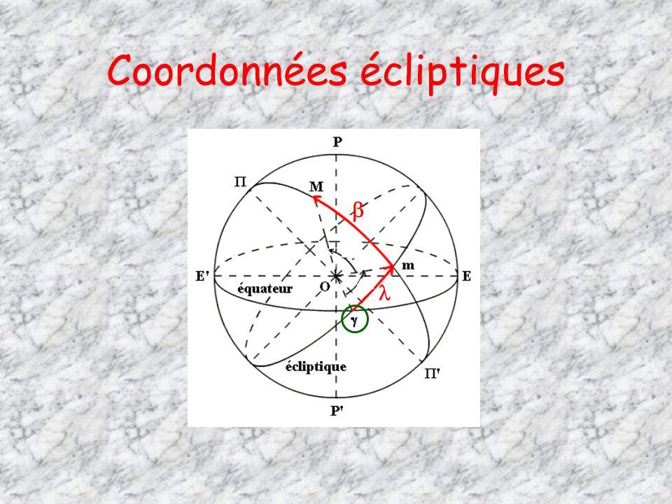 Coordonnées écliptiques