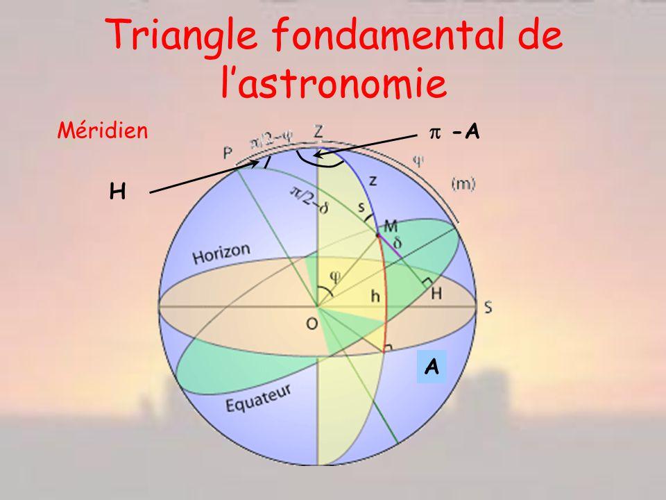 Triangle fondamental de l'astronomie