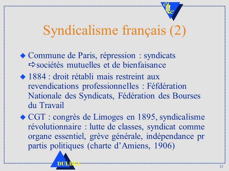 Syndicalisme français (2)