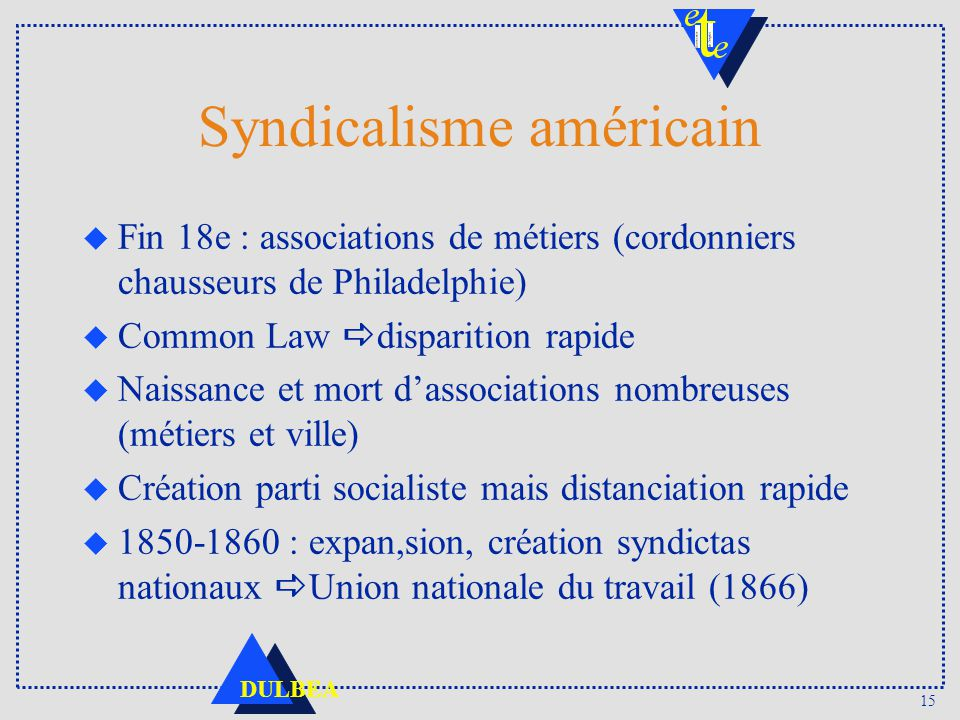 Syndicalisme américain