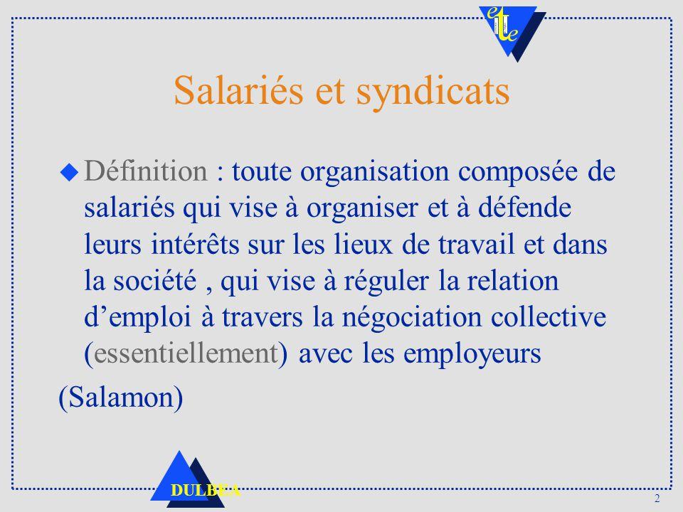 Salariés et syndicats