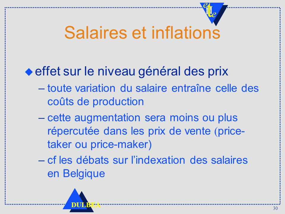 Salaires et inflations