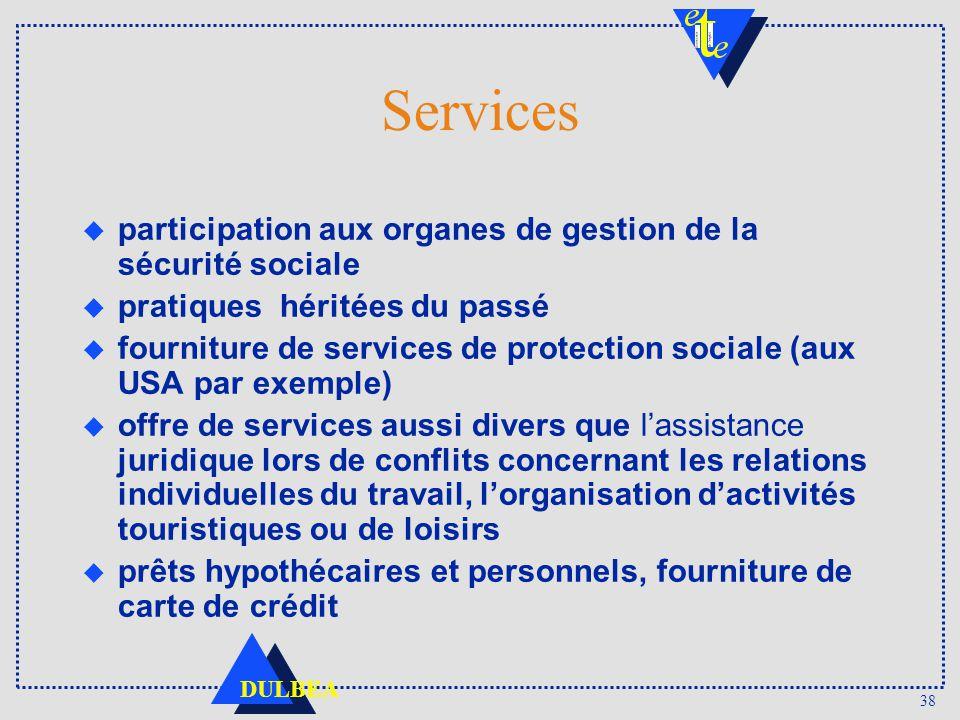 Services participation aux organes de gestion de la sécurité sociale