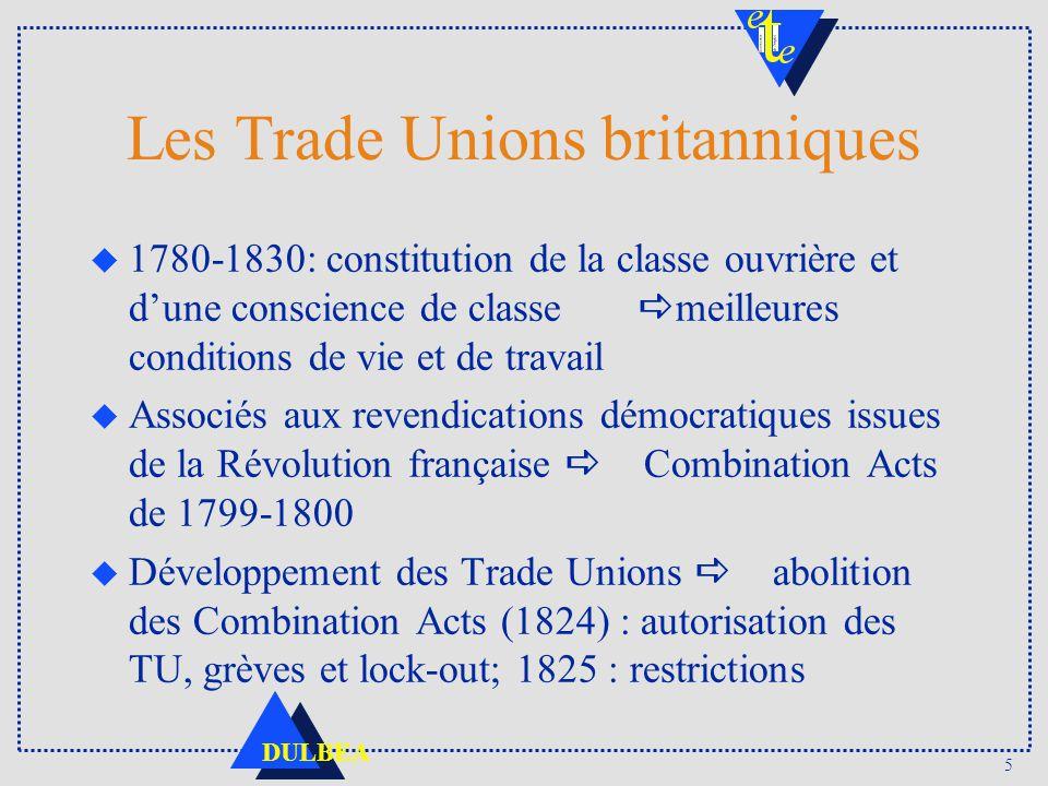 Les Trade Unions britanniques