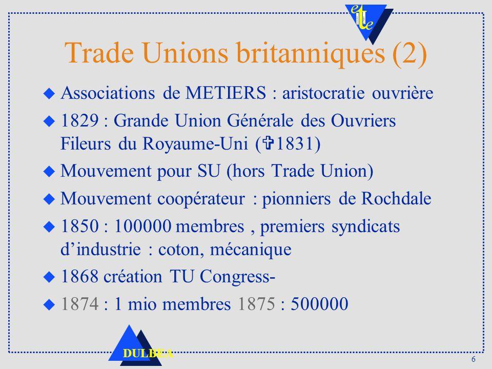 Trade Unions britanniques (2)