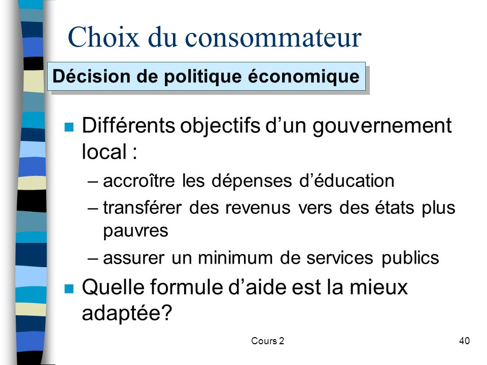 Décision de politique économique