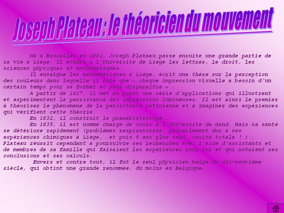 Joseph Plateau : le théoricien du mouvement