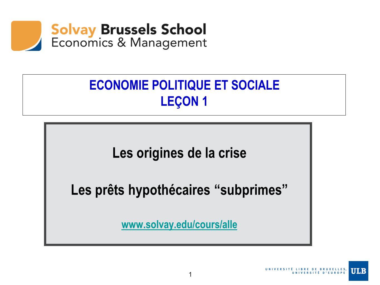 ECONOMIE POLITIQUE ET SOCIALE LEÇON 1
