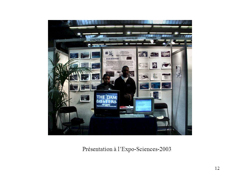 Présentation à l'Expo-Sciences-2003