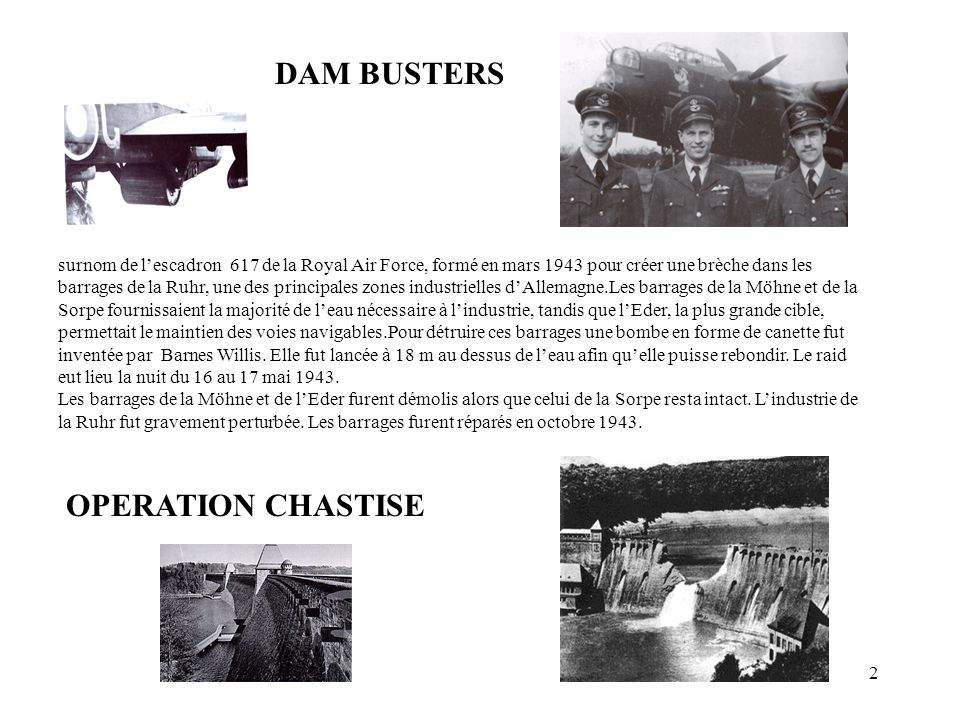 DAM BUSTERS OPERATION CHASTISE