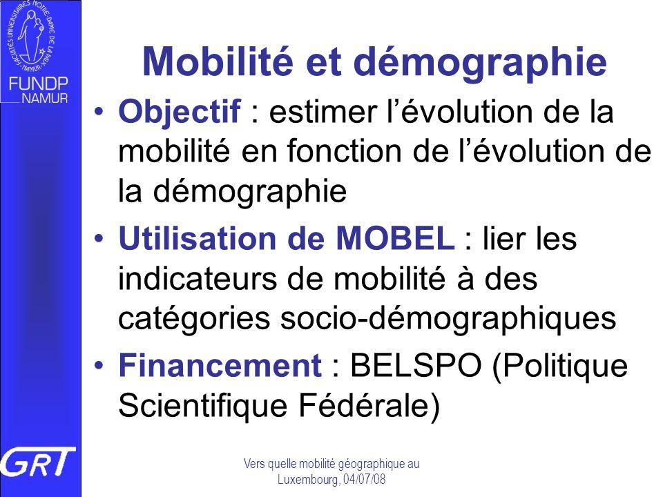 Mobilité et démographie