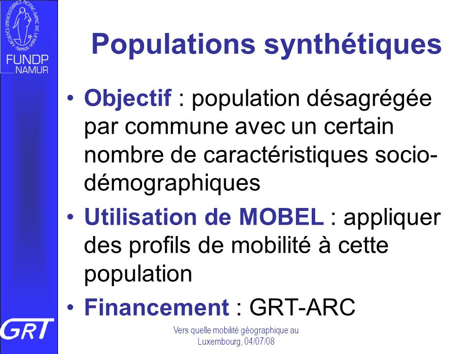 Populations synthétiques