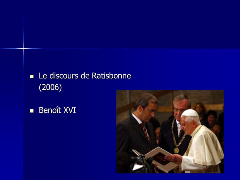 Le discours de Ratisbonne