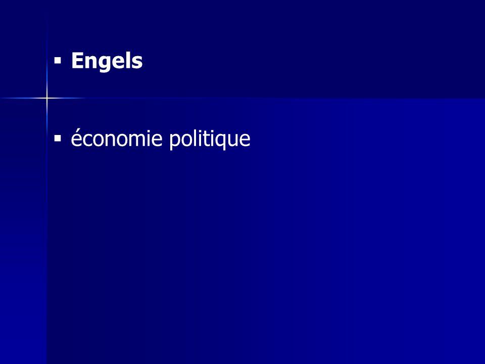 Engels économie politique