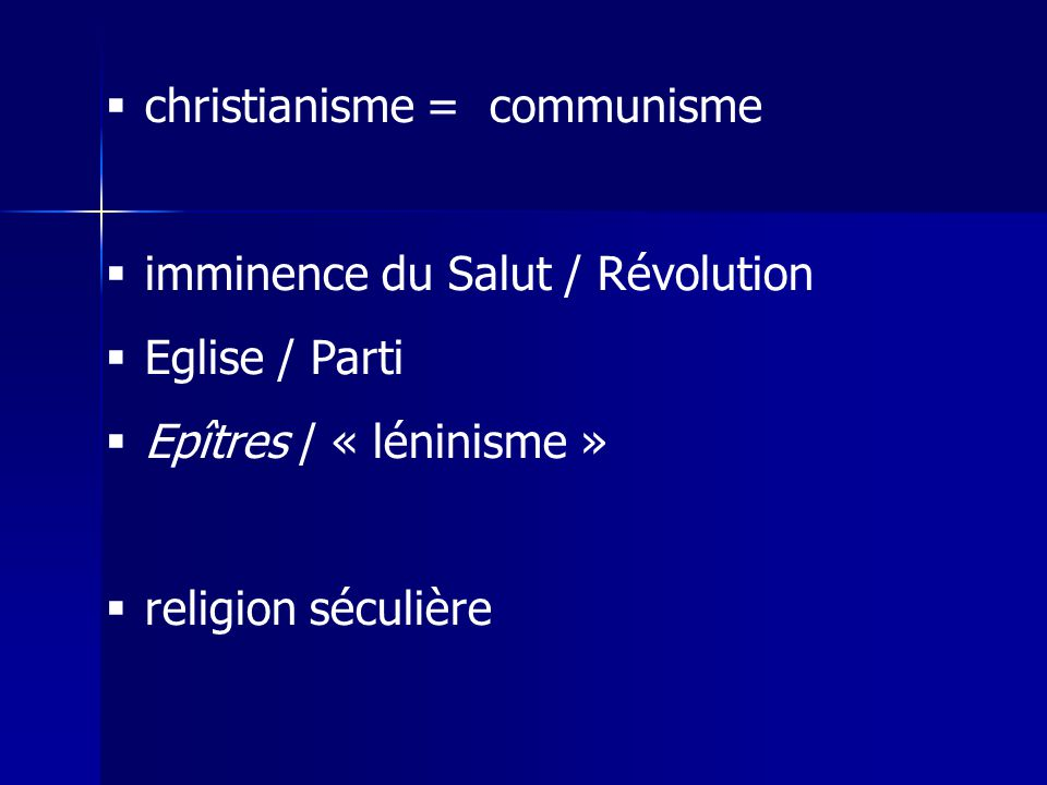 christianisme = communisme