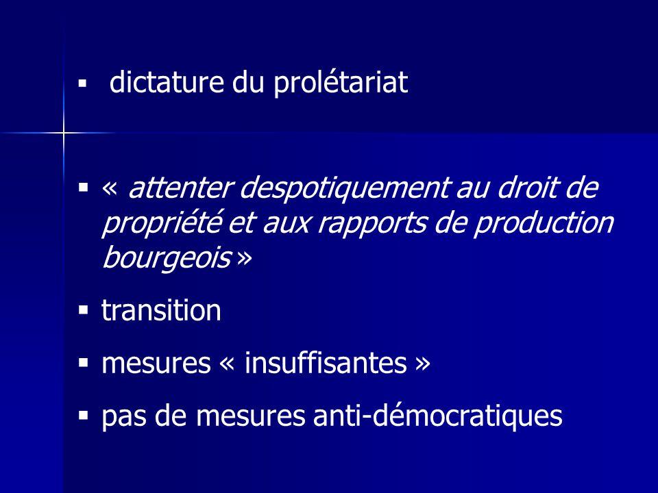 mesures « insuffisantes » pas de mesures anti-démocratiques