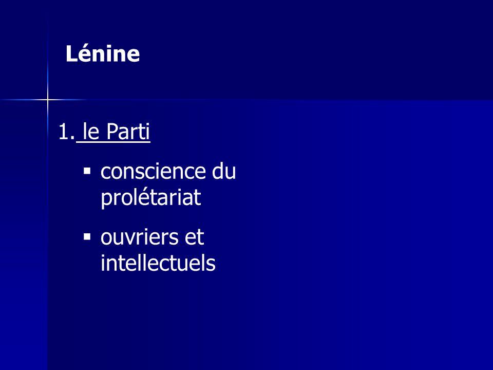 Lénine le Parti conscience du prolétariat ouvriers et intellectuels