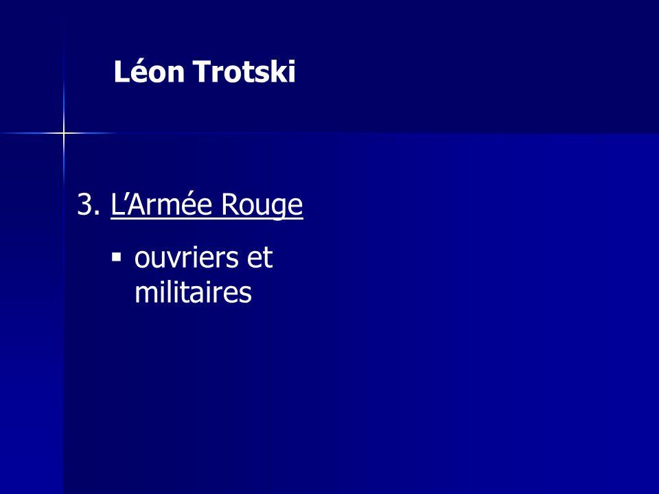 Léon Trotski L'Armée Rouge ouvriers et militaires