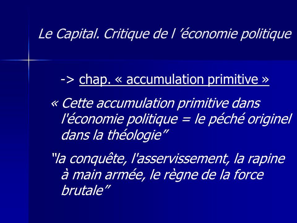 Le Capital. Critique de l 'économie politique