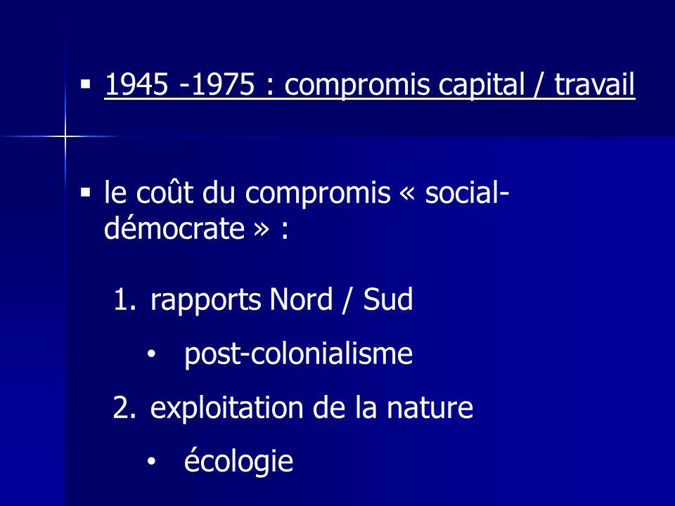 1945 -1975 : compromis capital / travail