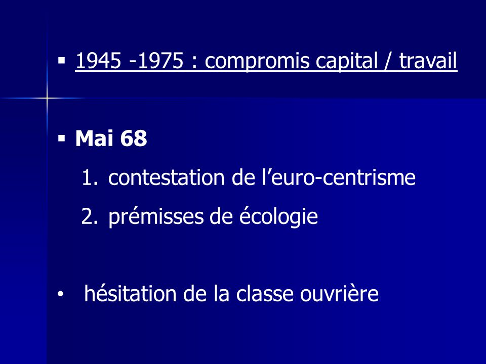 1945 -1975 : compromis capital / travail