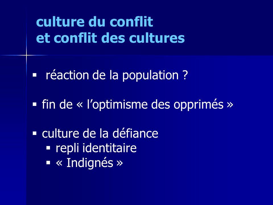 culture du conflit et conflit des cultures