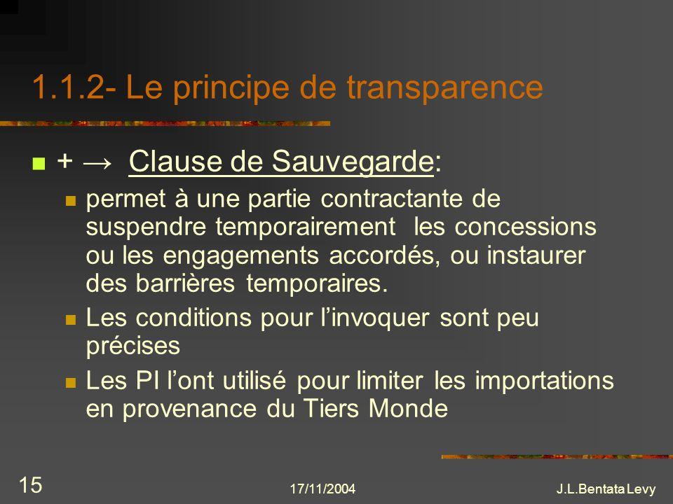1.1.2- Le principe de transparence