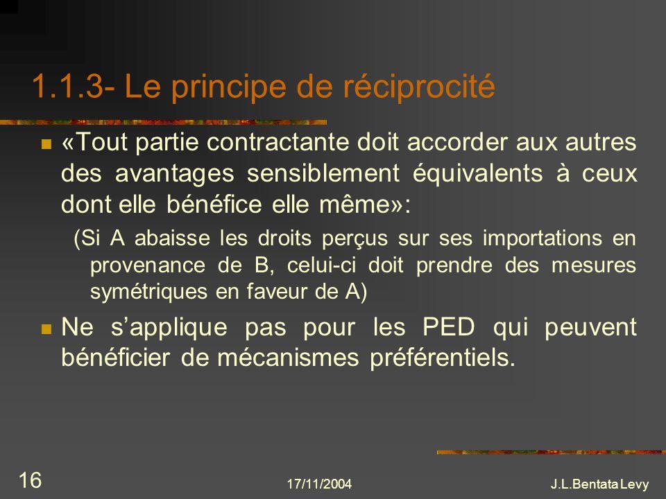 1.1.3- Le principe de réciprocité