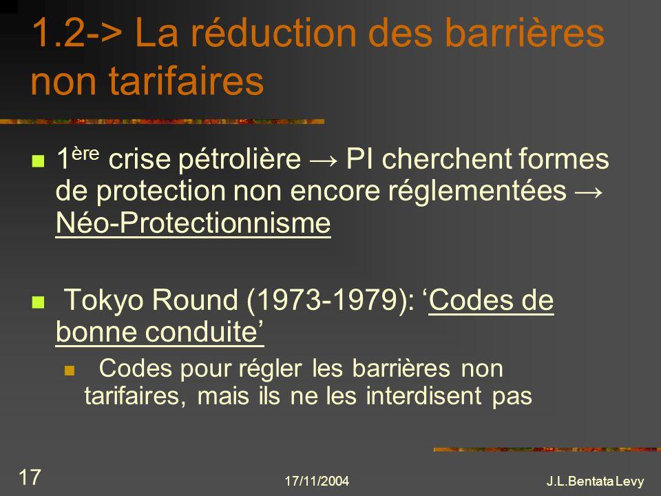 1.2-> La réduction des barrières non tarifaires