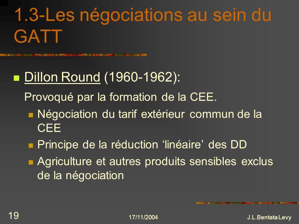 1.3-Les négociations au sein du GATT