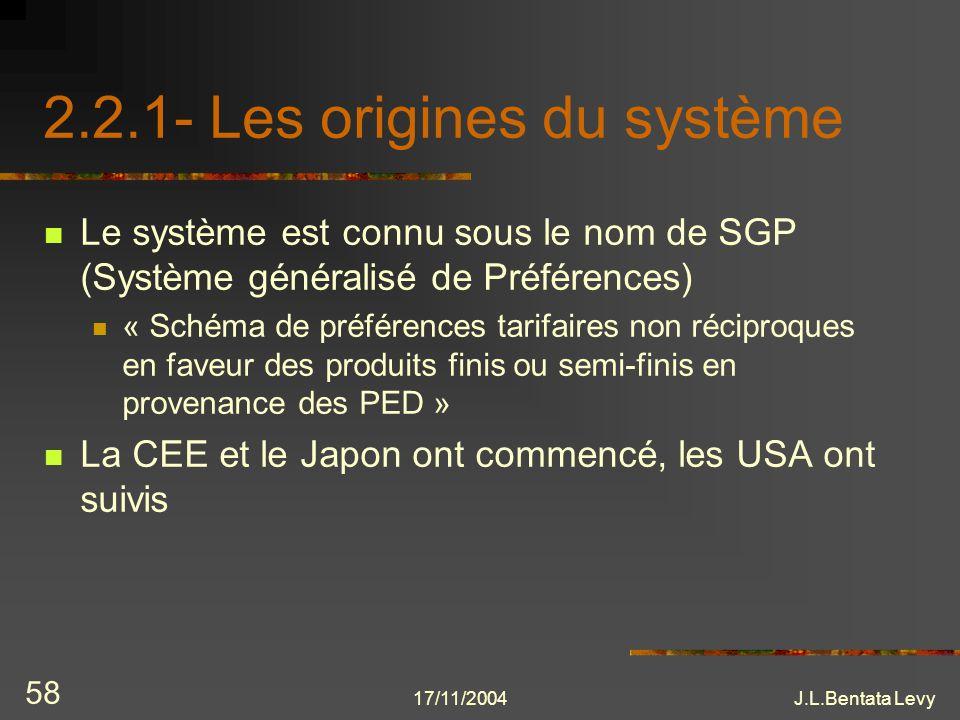 2.2.1- Les origines du système