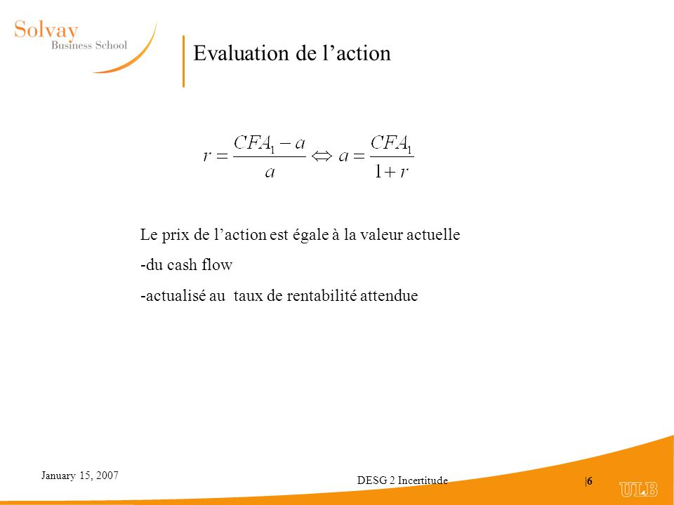 Evaluation de l'action