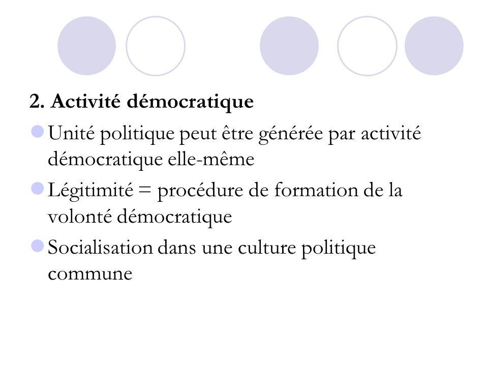 2. Activité démocratique
