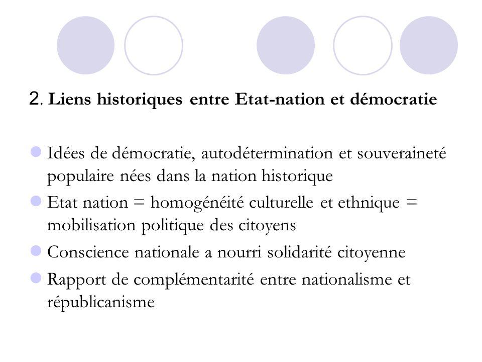 2. Liens historiques entre Etat-nation et démocratie