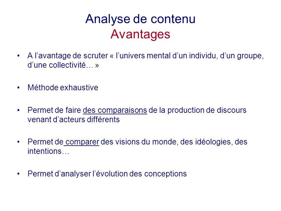 Analyse de contenu Avantages