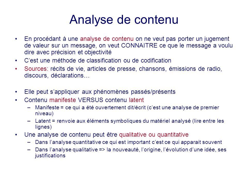 Analyse de contenu