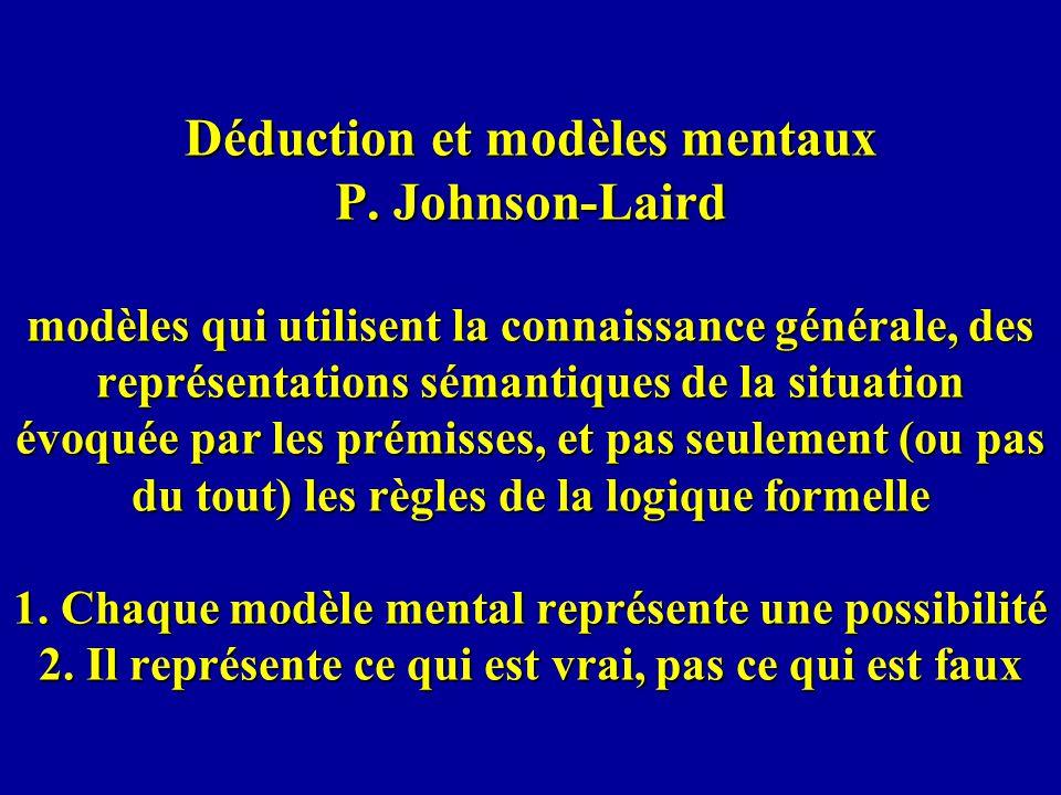 Déduction et modèles mentaux P