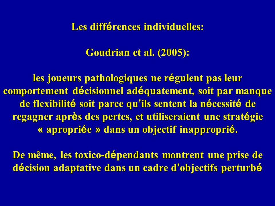 Les différences individuelles: Goudrian et al