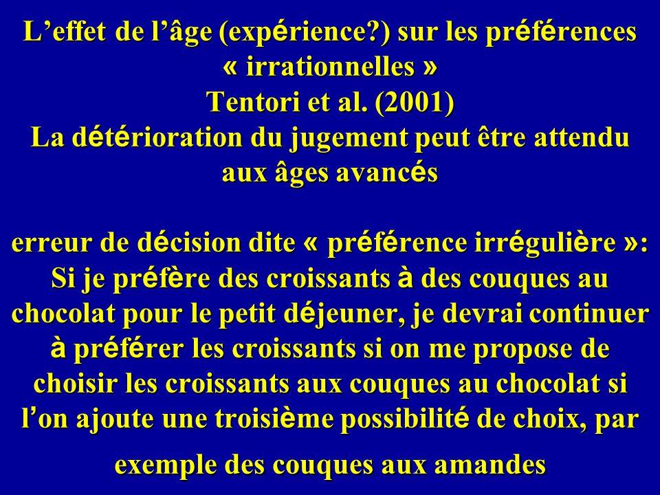 L'effet de l'âge (expérience