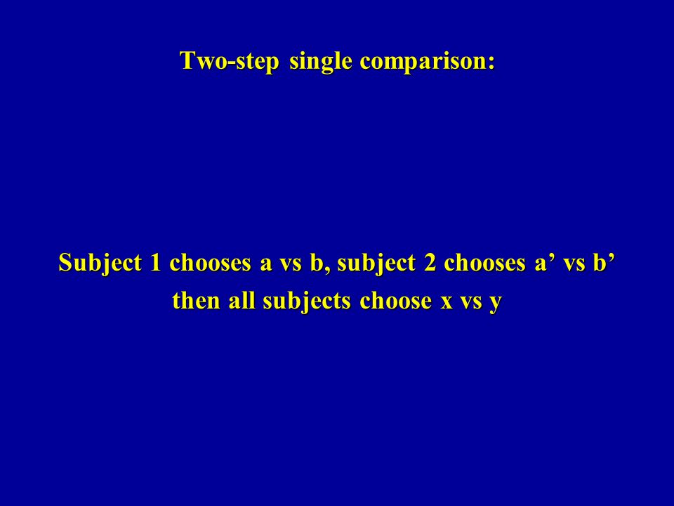 Two-step single comparison: