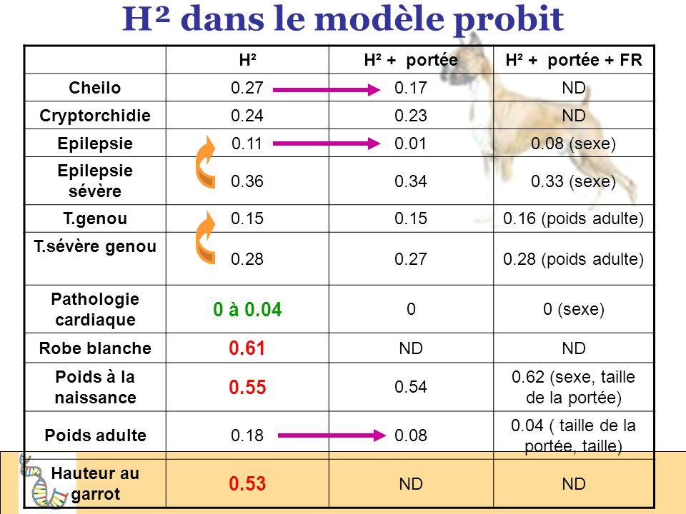 H² dans le modèle probit