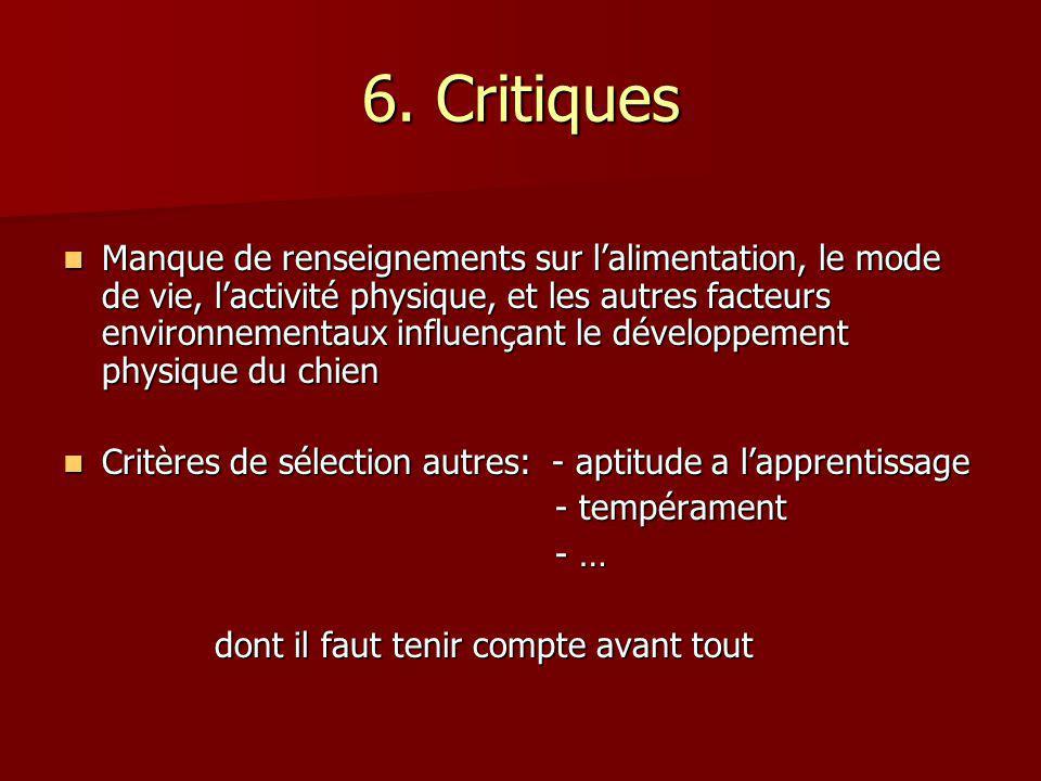 6. Critiques